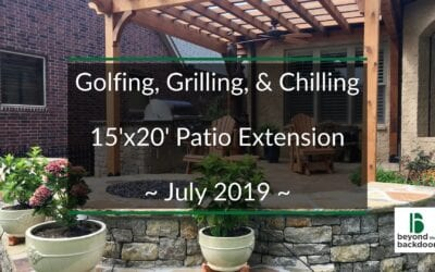 Golfing, Grilling, and Chilling on a New Custom Patio in Tulsa, Oklahoma – completed July 2019
