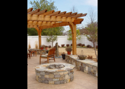 Beyond The Back Door Pergola Circle Fire Pit